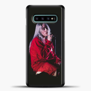 Billie Eilish The Singing Samsung Galaxy S10e Case, Black Plastic Case | casedilegna.com