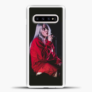 Billie Eilish The Singing Samsung Galaxy S10e Case, White Plastic Case | casedilegna.com