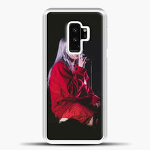 Load image into Gallery viewer, Billie Eilish The Singing Samsung Galaxy S9 Plus Case, White Plastic Case | casedilegna.com