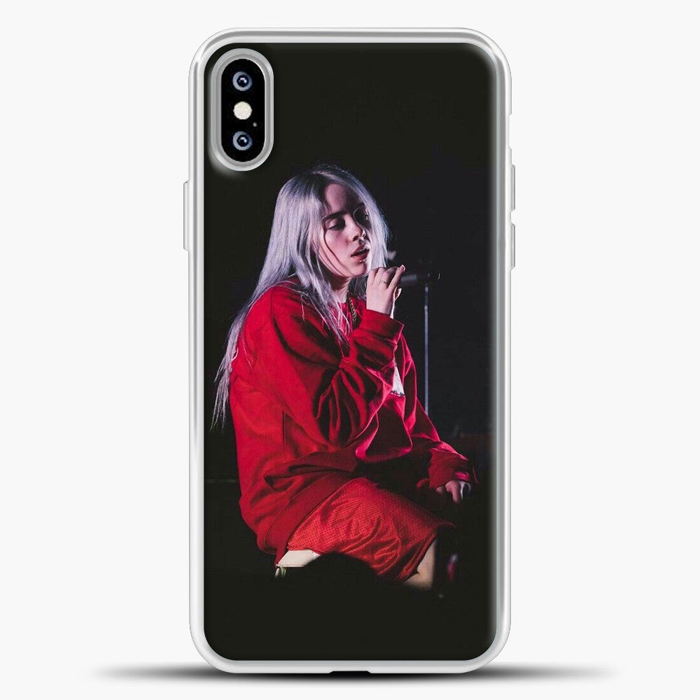 Billie Eilish The Singing iPhone XS Max Case, White Plastic Case | casedilegna.com