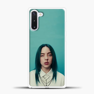 Billie Eilish Tosca Background Samsung Galaxy Note 10 Case, White Plastic Case | casedilegna.com