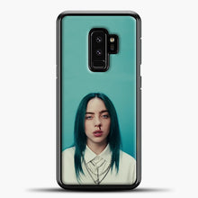 Load image into Gallery viewer, Billie Eilish Tosca Background Samsung Galaxy S9 Plus Case, Black Plastic Case | casedilegna.com
