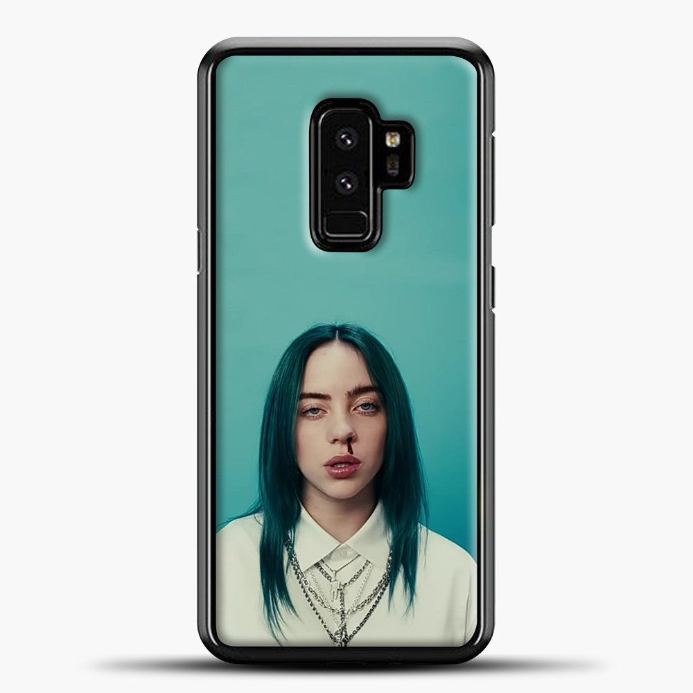 Billie Eilish Tosca Background Samsung Galaxy S9 Plus Case, Black Plastic Case | casedilegna.com