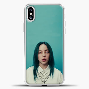 Billie Eilish Tosca Background iPhone XS Case, White Plastic Case | casedilegna.com