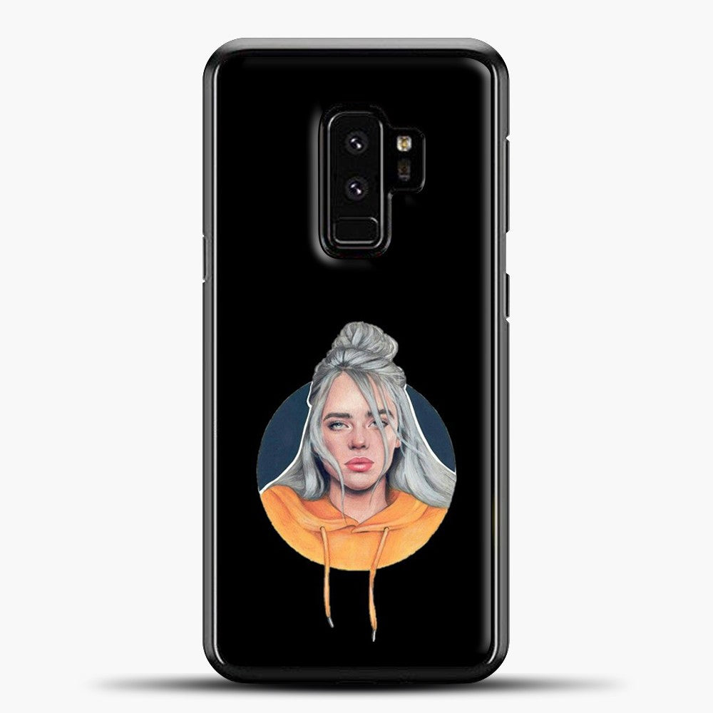 Billie Eilish Wallpaper Aestethic Samsung Galaxy S9 Plus Case, Black Plastic Case | casedilegna.com