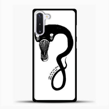Load image into Gallery viewer, Billie Eilish When We All Fall Asleep Monster White Samsung Galaxy Note 10 Case, Black Plastic Case | casedilegna.com