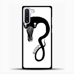 Billie Eilish When We All Fall Asleep Monster White Samsung Galaxy Note 10 Case, Black Plastic Case | casedilegna.com