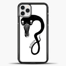 Load image into Gallery viewer, Billie Eilish When We All Fall Asleep Monster White iPhone 11 Pro Case, Black Plastic Case | casedilegna.com