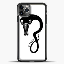 Load image into Gallery viewer, Billie Eilish When We All Fall Asleep Monster White iPhone 11 Pro Max Case, Black Plastic Case | casedilegna.com