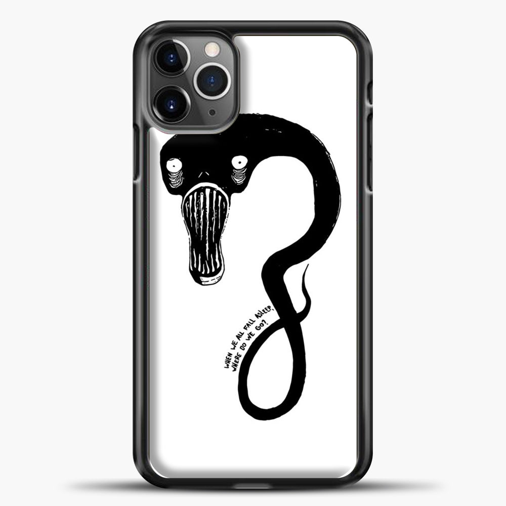 Billie Eilish When We All Fall Asleep Monster White iPhone 11 Pro Max Case, Black Plastic Case | casedilegna.com