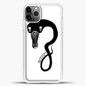 Billie Eilish When We All Fall Asleep Monster White iPhone 11 Pro Max Case, White Plastic Case | casedilegna.com