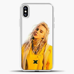 Billie Eilish White Background iPhone XS Case, White Plastic Case | casedilegna.com
