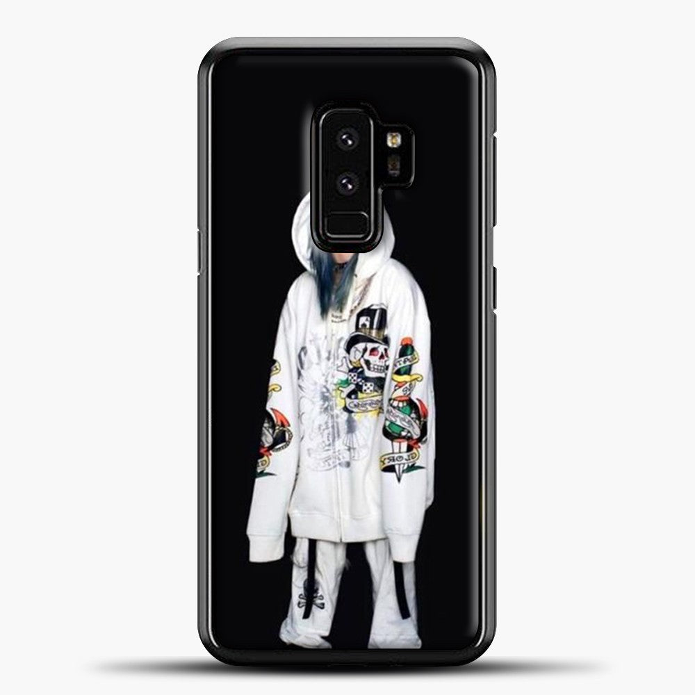 Billie Eilish White Jacket Samsung Galaxy S9 Plus Case, Black Plastic Case | casedilegna.com