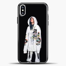 Load image into Gallery viewer, Billie Eilish White Jacket iPhone XS Case, Black Plastic Case | casedilegna.com
