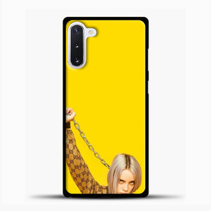 Billie Eilish Yellow Wallpaper Samsung Galaxy Note 10 Case, Black Plastic Case | casedilegna.com