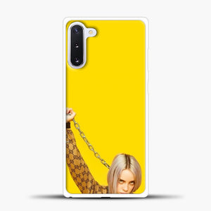 Billie Eilish Yellow Wallpaper Samsung Galaxy Note 10 Case, White Plastic Case | casedilegna.com