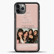 Load image into Gallery viewer, Blackpink Album iPhone 11 Pro Max Case, Black Plastic Case | casedilegna.com