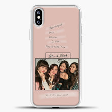 Load image into Gallery viewer, Blackpink Album iPhone XS Case, White Plastic Case | casedilegna.com