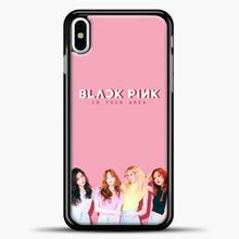 Load image into Gallery viewer, Blackpink BP iPhone X Case, Black Plastic Case | casedilegna.com