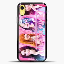 Load image into Gallery viewer, Blackpink Cute Smile iPhone XR Case, Black Plastic Case | casedilegna.com