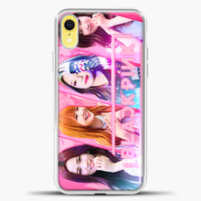 Load image into Gallery viewer, Blackpink Cute Smile iPhone XR Case, White Plastic Case | casedilegna.com
