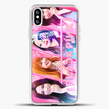 Load image into Gallery viewer, Blackpink Cute Smile iPhone XS Case, White Plastic Case | casedilegna.com