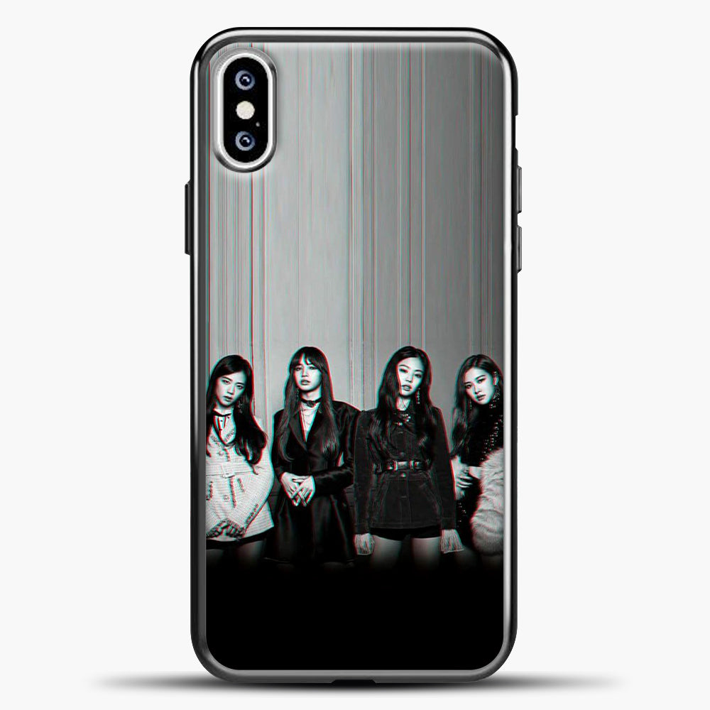 Blackpink Glitch iPhone XS Case, Black Plastic Case | casedilegna.com