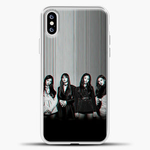 Blackpink Glitch iPhone XS Case, White Plastic Case | casedilegna.com