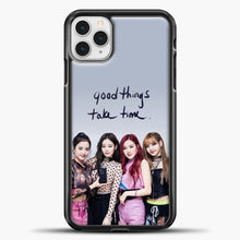 Load image into Gallery viewer, Blackpink Good Thing Take Time iPhone 11 Pro Case, Black Plastic Case | casedilegna.com