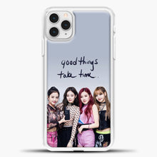 Load image into Gallery viewer, Blackpink Good Thing Take Time iPhone 11 Pro Case, White Plastic Case | casedilegna.com