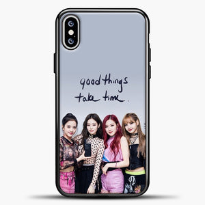 Blackpink Good Thing Take Time iPhone XS Max Case, Black Plastic Case | casedilegna.com