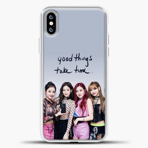 Blackpink Good Thing Take Time iPhone XS Max Case, White Plastic Case | casedilegna.com