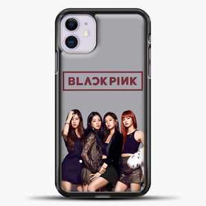 Blackpink Grey Background iPhone 11 Case, Black Plastic Case | casedilegna.com