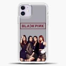 Load image into Gallery viewer, Blackpink Grey Background iPhone 11 Case, White Plastic Case | casedilegna.com