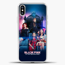 Load image into Gallery viewer, Blackpink Is The Revolution iPhone XS Max Case, White Plastic Case | casedilegna.com