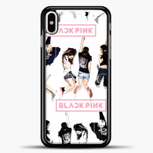 Load image into Gallery viewer, Blackpink Jump iPhone X Case, Black Plastic Case | casedilegna.com
