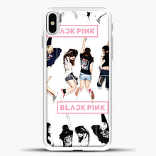 Load image into Gallery viewer, Blackpink Jump iPhone X Case, White Plastic Case | casedilegna.com
