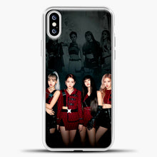 Load image into Gallery viewer, Blackpink Kill This Love Cover iPhone XS Case, White Plastic Case | casedilegna.com