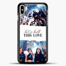 Load image into Gallery viewer, Blackpink Lets Kill This Love iPhone X Case, Black Plastic Case | casedilegna.com
