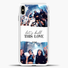 Load image into Gallery viewer, Blackpink Lets Kill This Love iPhone X Case, White Plastic Case | casedilegna.com