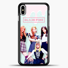 Load image into Gallery viewer, Blackpink Melt iPhone X Case, Black Plastic Case | casedilegna.com