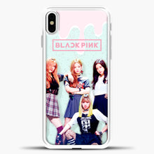 Load image into Gallery viewer, Blackpink Melt iPhone X Case, White Plastic Case | casedilegna.com
