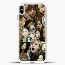 Load image into Gallery viewer, Blackpink Meme iPhone X Case, White Plastic Case | casedilegna.com