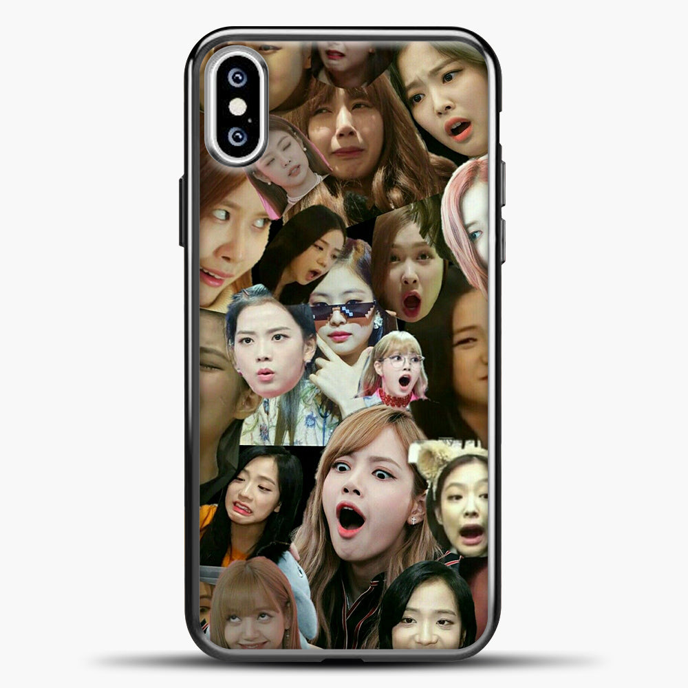 Blackpink Meme iPhone XS Case, Black Plastic Case | casedilegna.com