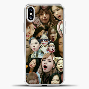 Blackpink Meme iPhone XS Case, White Plastic Case | casedilegna.com