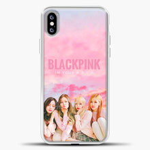 Load image into Gallery viewer, Blackpink Pink Cloud iPhone XS Max Case, White Plastic Case | casedilegna.com