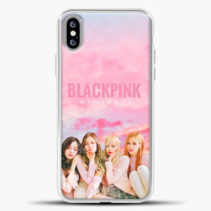 Blackpink Pink Cloud iPhone XS Max Case, White Plastic Case | casedilegna.com
