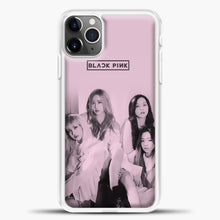 Load image into Gallery viewer, Blackpink Pink Cover iPhone 11 Pro Max Case, White Plastic Case | casedilegna.com