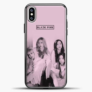 Blackpink Pink Cover iPhone XS Case, Black Plastic Case | casedilegna.com