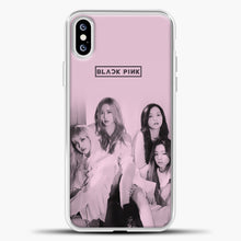 Load image into Gallery viewer, Blackpink Pink Cover iPhone XS Case, White Plastic Case | casedilegna.com